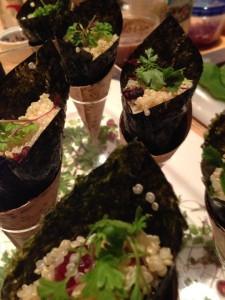 quinoa hand rolls